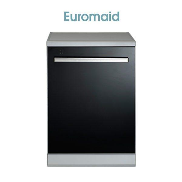 Euromaid BG14BM 60cm Black Glass Dishwasher