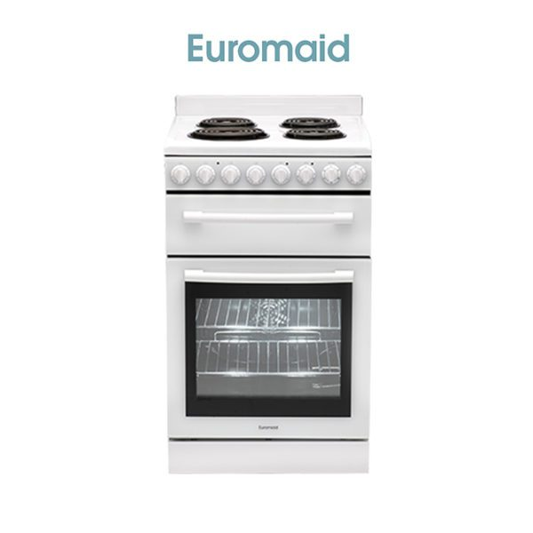 54cm Upright Electric Oven & Coil Cooktop