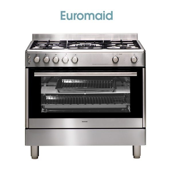 Euromaid GG90S – 90cm Stove/Cooker – Gas Oven & Gas Cooktop