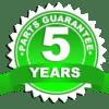 5 year parts guarantee
