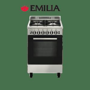 Emilia EM534MVI4 - Best 53cm Upright Gas Cooker & Stove