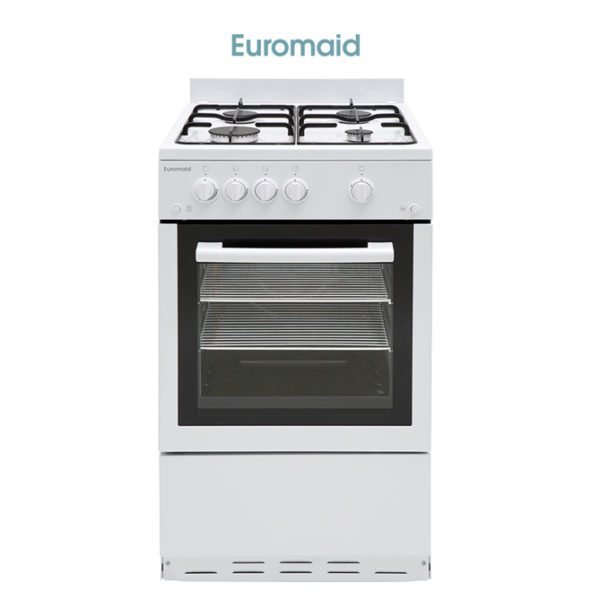 Euromaid GGFW50 50cm Freestanding Cooker Stove – LPG Oven Grill Cooktop