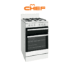 Chef CFG503WBLP - 54cm LPG Gas Upright Cooker